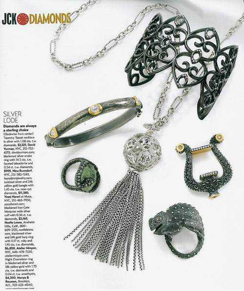 Night chameleon ring in JCK Magazine